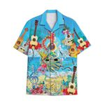 Tropical Summer Aloha Hawaiian Shirt Guitar AV-NH08