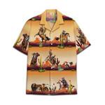 Tropical Summer Aloha Hawaiian Shirt Cowboy Cat HC-NQ39