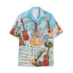 Tropical Summer Aloha Hawaiian Shirt Ukulele AV-NH09