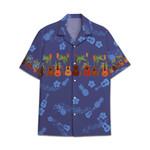 Tropical Summer Aloha Hawaiian Shirt Ukulele AV-NQ07