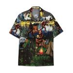 Tropical Summer Aloha Bigfoot Style Hawaiian Shirt DN-NQ25