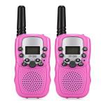 2Pcs Children Walkie Talkies 2-Way Radio 3Km Range 8 Channels