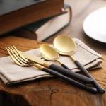 Morgan Gold & Black Cutlery Set