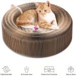 Cat Cardboard Round Scratcher Bed By Presentpet