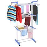 Heavy Duty Portable Rolling Clothes Standing Hanger Rack