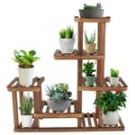 Large Multi Tiered Indoor Wooden Plant Stand