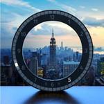 Circular Poreceptive Digital Wall Clock