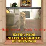 Magic Gate for Dogs, Portable Folding Mesh Gate