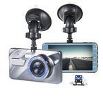 Car And Truck Dash Cam Video Recorder Front + Rear Camera Dual Lens Lcd