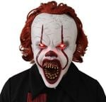 Pennywise It Clown Halloween Party Mask, Led Latex