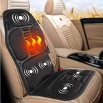 Portable Heated Back Massage Seat Pad For Home And Car