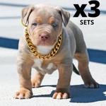 3  ThugPet - Thick Cuban Dog Gold Chain Pet Collar