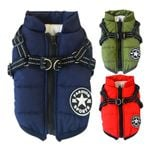 Winter Pet Jacket With Harness