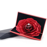 Blossoming Red Rose Ring Box