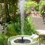 Round Solar Water Bird Bath Fountain