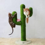 Cat Toy Scratching Post Tree Made Of Sisal Rope