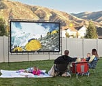 Giant Foldable Outdoor Movie Screen - 60 To 150 Inch