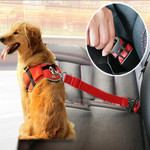 Adjustable Car Seat Belt With Travel Clip For Dog