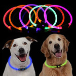 Adjustable Dog Collar With Flashing Led Light In Sizes S M L