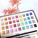 Glitter/Metallic Watercolor Set -12/36/48 Color