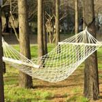 Premium Portable Rope Backyard Hanging Hammock Swing Bed