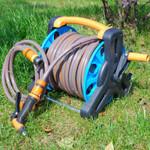Premium Retractable Garden Water Hose Holder Reel
