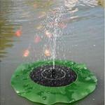 Solar Powered Leaf Shaped Garden Bird Bath Water Fountain Pump