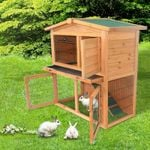 Large Indoor Outdoor Rabbit Hutch Cage House 40in
