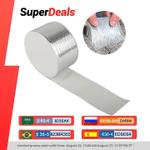 Aluminum Foil Butyl Rubber Tape High Temperatures Super Strong Adhesive Waterproof Repair Tape Wall Crack Roof Duct Repair