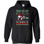Bah Hum Pug Dog Christmas Men Pullover Hoodie