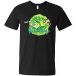 Rick And Morty Multidimensional Travel Men V-Neck T-Shirt