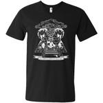 Rick And Morty Wubba Lubba Dub Dub Pyramid Men V-Neck T-Shirt