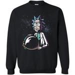 Rick And Morty Astronaut Helmet Unisex Crewneck Pullover Sweatshirt