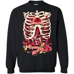 Rick And Morty Anatomy Park Skeleton Unisex Crewneck Pullover Sweatshirt