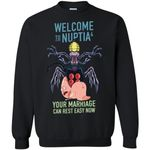 Rick And Morty Welcome To Nuptia Unisex Crewneck Pullover Sweatshirt