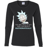 Rick And Morty Mathematical Proof Quote Women Long Sleeve Shirt