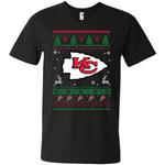 Kansas City Chiefs Logo Football Teams Ugly Christmas Sweater Men V-Neck T-Shirt
