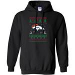 Denver Broncos Logo Football Teams Ugly Christmas Sweater Men Pullover Hoodie