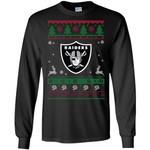 Oakland Raiders Logo Football Teams Ugly Christmas Sweater Men Long SLeeve Shirt