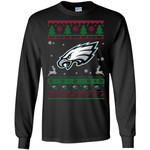 Philadelphia Eagles Logo Football Teams Ugly Christmas Sweater Men Long SLeeve Shirt