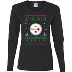 Pittsburgh Steelers Logo Football Teams Ugly Christmas Sweater Women Long Sleeve Shirt