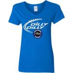Dilly Dilly Baltimore Ravens Nfl Football Women V-Neck T-Shirt
