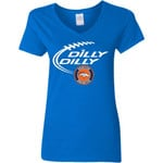 Dilly Dilly Denver Broncos Nfl Football Women V-Neck T-Shirt