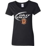 Dilly Dilly Cincinnati Bengal Nfl Football Women V-Neck T-Shirt