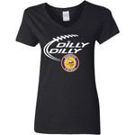 Dilly Dilly Minnesota Vikings Nfl Football Women V-Neck T-Shirt