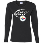 Dilly Dilly Pittsburgh Steelers Logo Nfl Football Women Long Sleeve Shirt