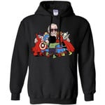 Stan Lee Shirt - Father Of Super Heroes Men Pullover Hoodie