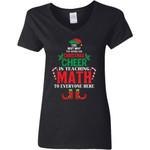 Christmas Cheer Is Teaching Math Women V-Neck T-Shirt