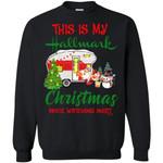 This Is My Hallmark Christmas Movie Watching Unisex Crewneck Pullover Sweatshirt