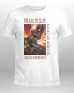 Attack on Titan T-Shirt   Mikasa Ackerman